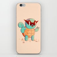 squirtle iPhone & iPod Skins featuring Squirtle by Daniel Mackey