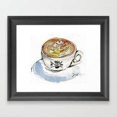 Latte Framed Art Print