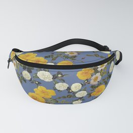 Yellow vintage rose// summer  floral roses Fanny Pack