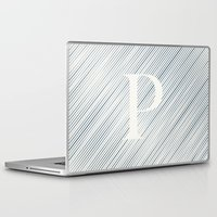 striped Laptop & iPad Skins featuring Striped P by DLUTED DESIGN