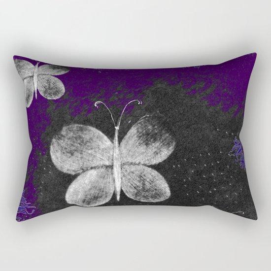 Fluttering Butterflies Rectangular Pillow