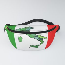 Map of Italy and Italian Flag Fanny Pack
