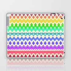 Ikat Pattern in Rainbow Colors on Cream Laptop & iPad Skin