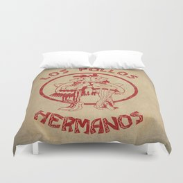Los Pollos Hermanos vintage ( Breaking Bad ) Duvet Cover