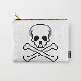 Pixel Skull And Crossbones. Carry-All Pouch