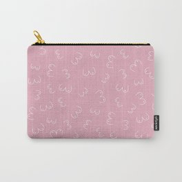 Pink Boobs Breast cancer awareness sisterhood power Carry-All Pouch