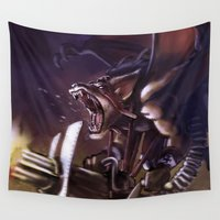 league Wall Tapestries featuring League of Legends new character: Bad Bat Rat by Marcos Raya Delgado