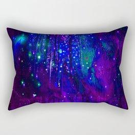 TREES MOON AND SHOOTING STARS Rectangular Pillow