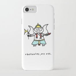obstacles, my ass (ganesha) iPhone Case