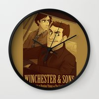 winchester Wall Clocks featuring Winchester & Sons by The Art of Nicole