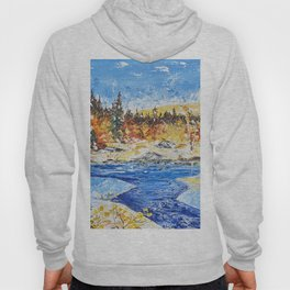 Landscape painting- The clear water River - by LiliFlore Hoody