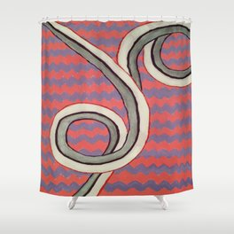 Zig Zag Swirl Shower Curtain
