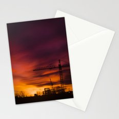 City in the night Stationery Cards