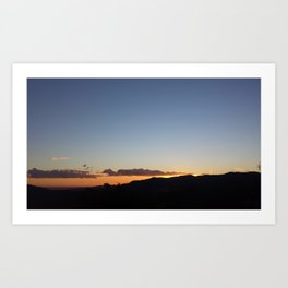 SoCal Sunset Art Print