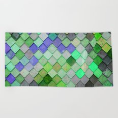 PRETTY - green palette Beach Towel