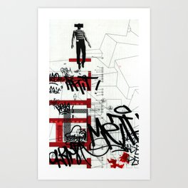 red series 3 Art Print
