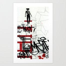 red series 3 Art Print