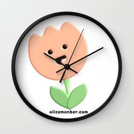 Cute Tulip Flower Wall Clock