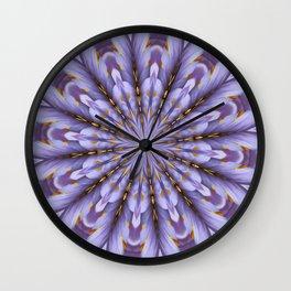 Lilac Kaleidoscope Wall Clock