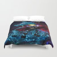 fullmetal Duvet Covers featuring Two Alchemist by BradixArt