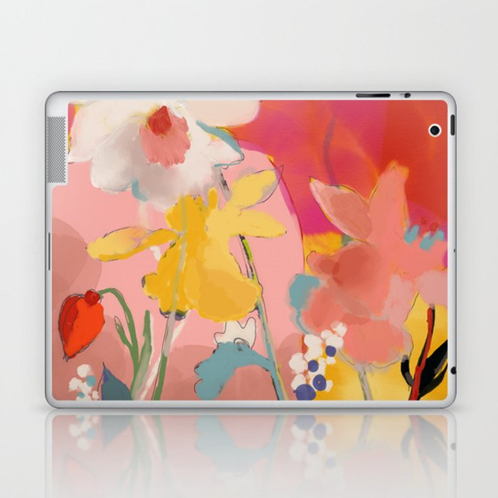 blooming abstract pink Laptop & iPad Skin