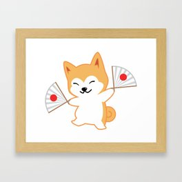 Akita Hachi Framed Art Print