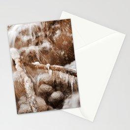 Frozen Harp Falls - Sepia Nostalgia Stationery Cards