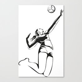 Beach volleyball player Canvas Print