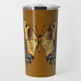 Bahamian Swallowtail Butterfly - Yellow, Black, and Golden Brown Travel Mug