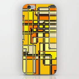Vintage Yellow Print iPhone Skin