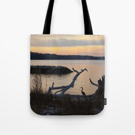 Evening at Yorktown Beach Tote Bag