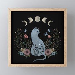 Cat on the Hill Framed Mini Art Print