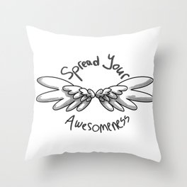 Spread the awesome Throw Pillow