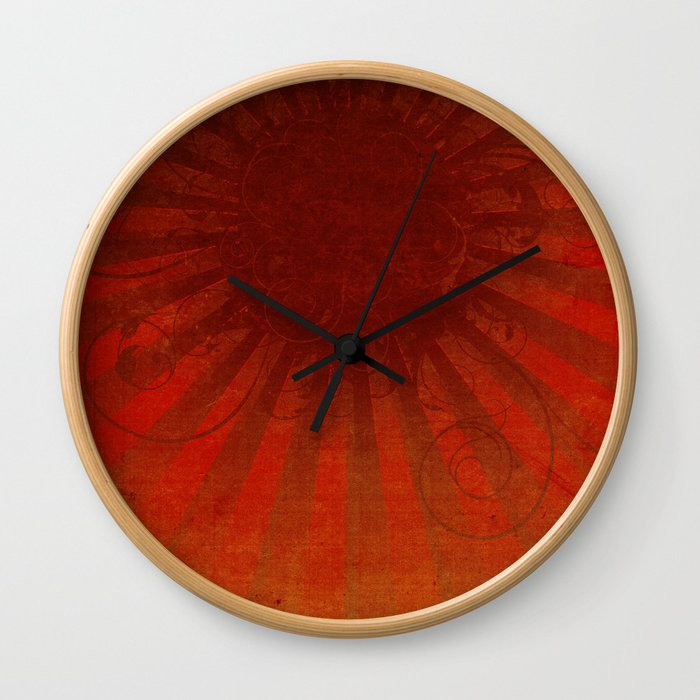 Dark Sun Wall Clock