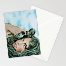 Warrior girl Stationery Cards