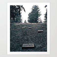 Cemetery hill Art Print