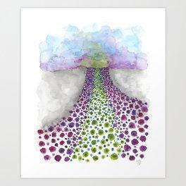Paths of Color III Art Print