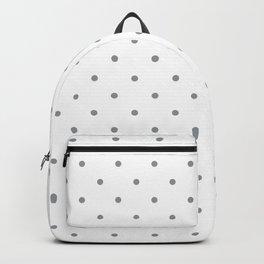 Small Grey Polka Dots Backpack