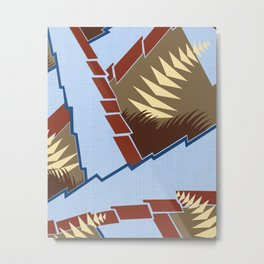 AGONDA Art Deco Modern: BIG SKY RANCH Metal Print