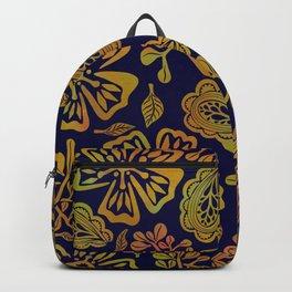 Golden Paisley Florals Backpack
