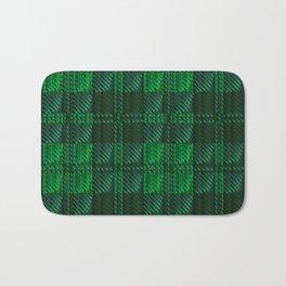 Dark Green Tartan Bath Mat
