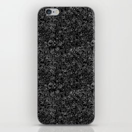 Crazy monsters in a crowd pattern iPhone Skin