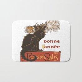 Bonne Annee Happy New Year Parody Bath Mat
