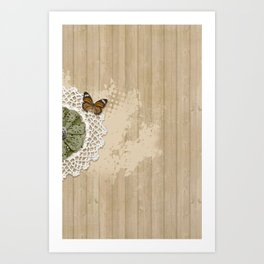 Butterfly on my wall Art Print