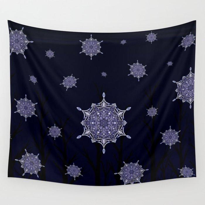 Winter Woodland Wonder Wall Tapestry