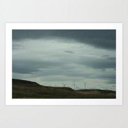 Just hangin in the wind. Art Print