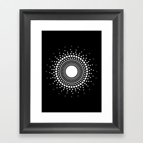 LUX LIGHT LICHT Framed Art Print