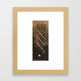 S N O W // L I N E Framed Art Print