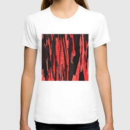 Unique Abstract Scarlet and Black Design T-shirt