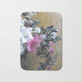 Painterly Hibiscus Bath Mat